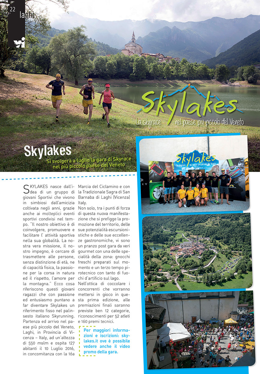 Articolo Sportivissimo Skylakes